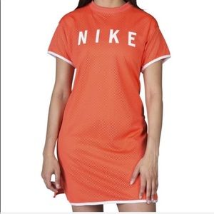 ✨NIKE Orange GX Jersey Mesh T Shirt Mini Dress